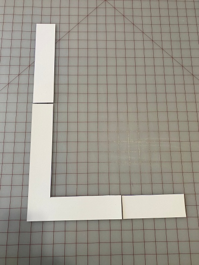 Use the remaining board to extend L shape out.